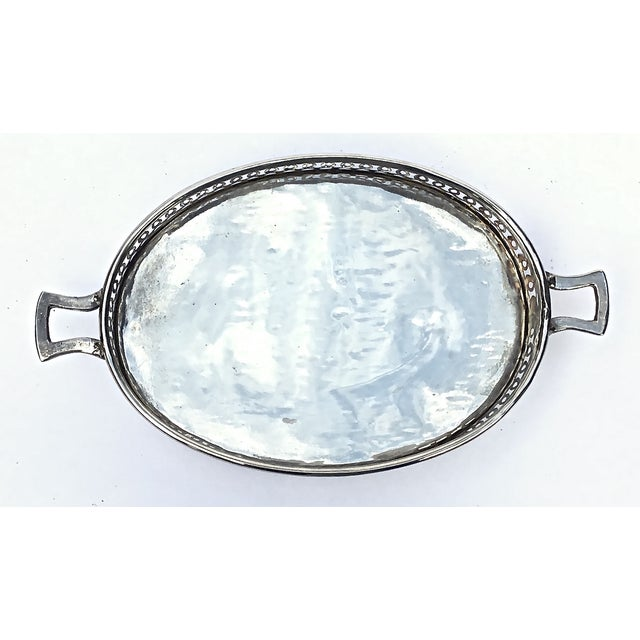 Art Deco Style Silverplated Reticulated Tray - Image 3 of 5
