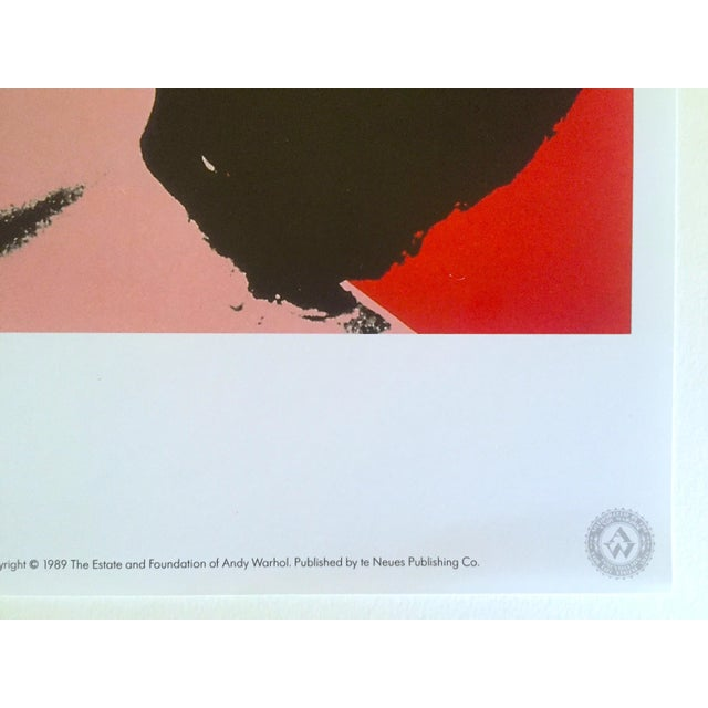 "Lithograph Andy Warhol Estate Rare 1989 Collector's Lithograph Pop Art Print "" Liz Taylor "" 1964 For Sale - Image 7 of 10"