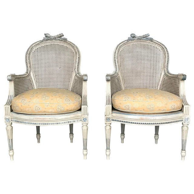 Late 19th Century Antique French Louis XV Style Bergeres - A Pair For Sale - Image 9 of 9