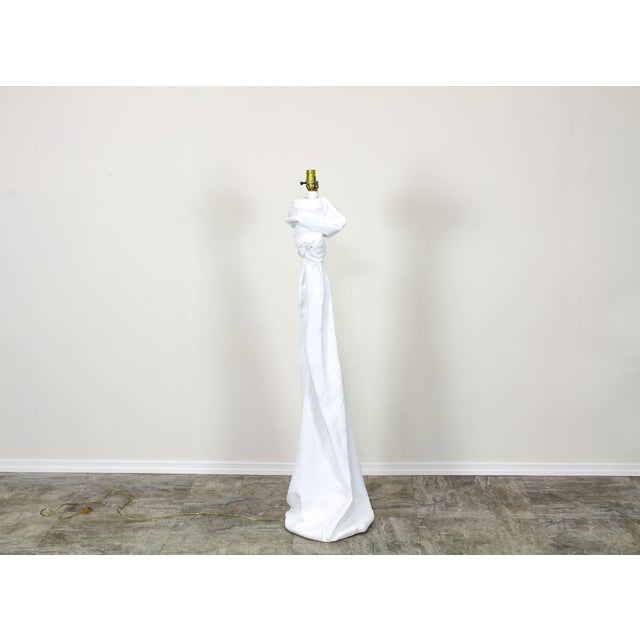 Draped Plaster Floor Lamps in the Manner of John Dickinson For Sale In Miami - Image 6 of 7