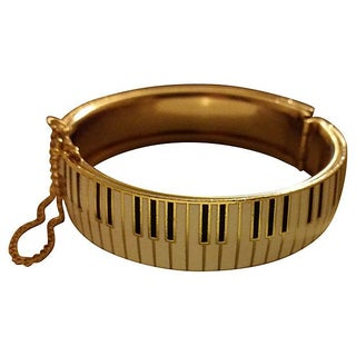 Heavy Enamel Keyboard Bangle