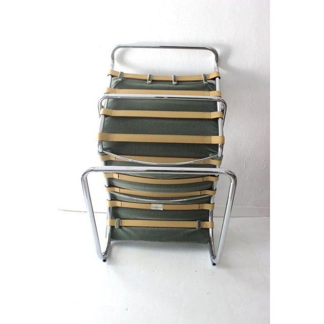 1980s Vintage Mies Van Der Rohe Style Lounge Chair by Gordon International For Sale - Image 5 of 13