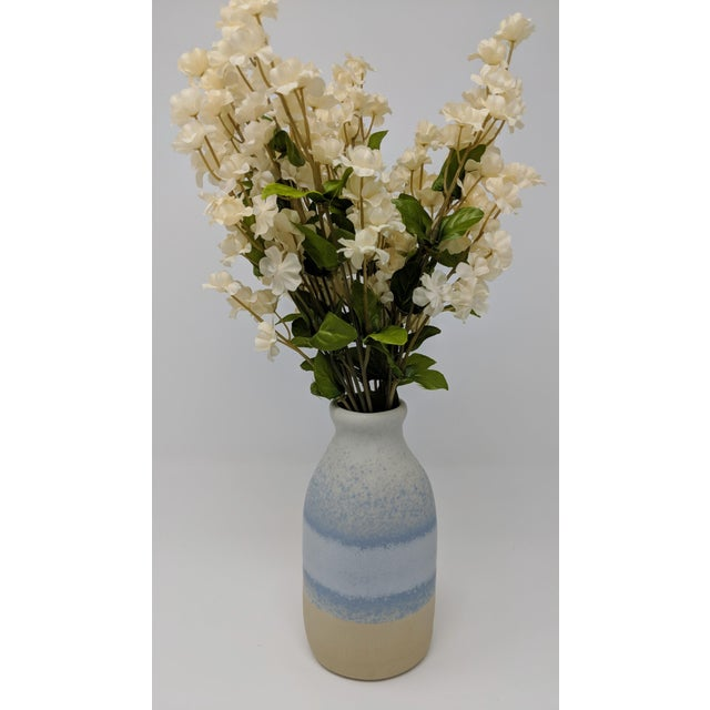 Blue Blue and White Gradient Vase For Sale - Image 8 of 12