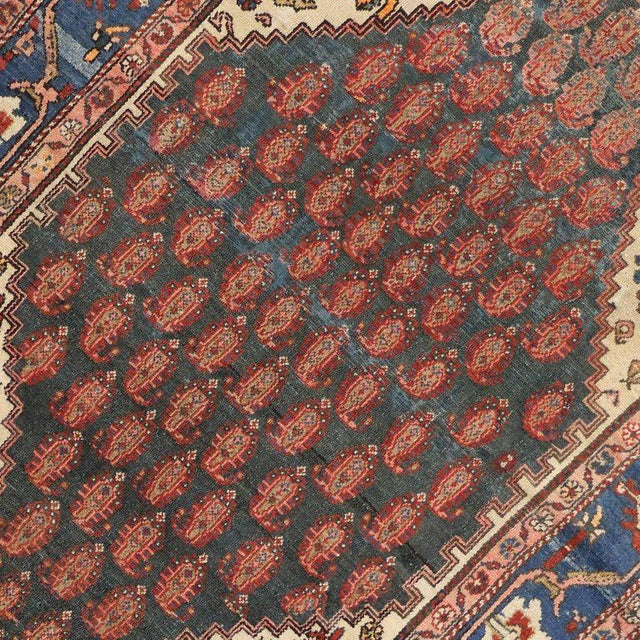 Antique Persian Malayer Rug with Modern Traditional Style For Sale - Image 4 of 8