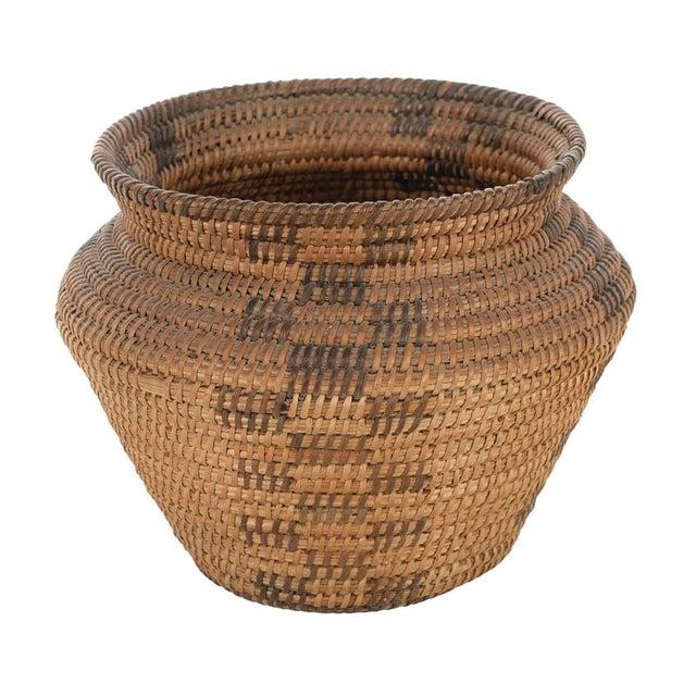 Antique Mission Indian Basket Circa 1900 For Sale