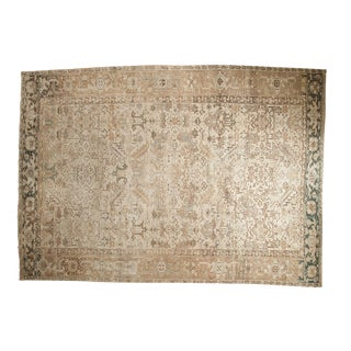 "Vintage Distressed Heriz Carpet - 8'4"" X 11'6"""