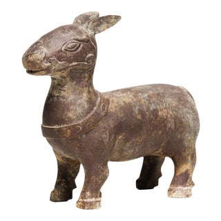 Lawrence & Scott Verdigris Bronze Donkey Creature Statue For Sale