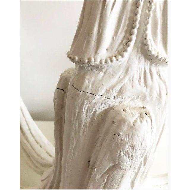 Vintage Dorothy Draper Style Draped White Chandelier For Sale In Atlanta - Image 6 of 13