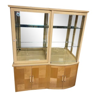Italian Maple High Gloss China Hutch For Sale