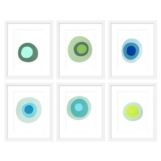 """Large """"Lucky Jade, Set of 6"""" Print by Neicy Frey, 57"""" X 50"""" For Sale"""
