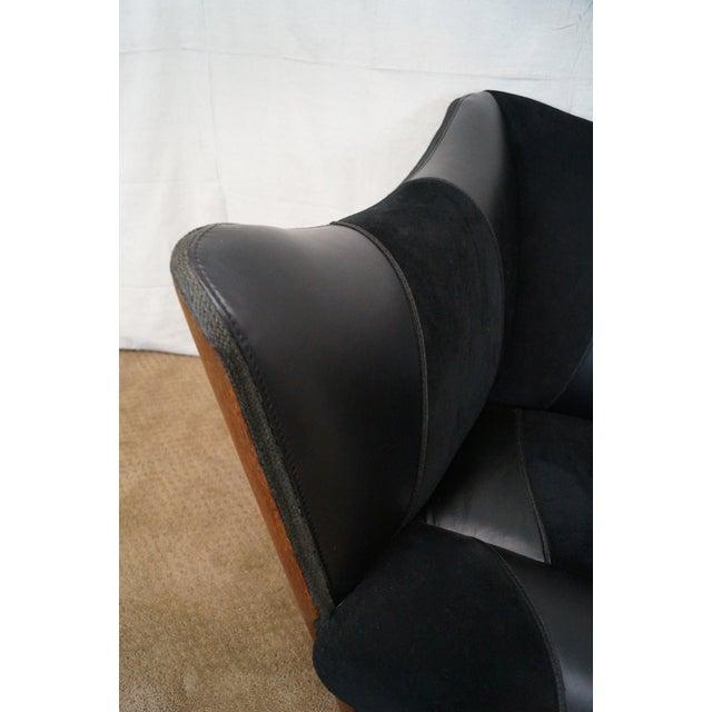 Brazilian Walnut Wing Lounge Chair - Image 5 of 10