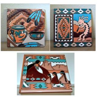 Navajo Handmade Ceramic Tiles - Set of 3 Preview