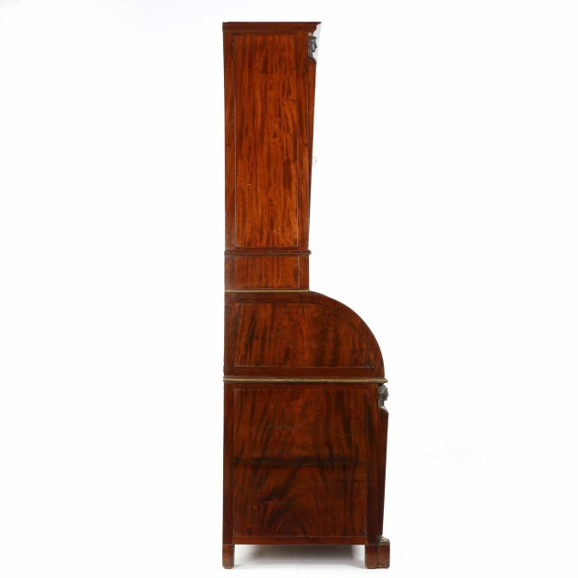 French Empire Mahogany Secretary Desk by Jean-Joseph Chapuis Circa 1805 For Sale - Image 4 of 10