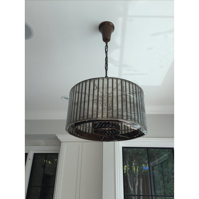 Brand new, never used Vitti mirrored drum chandelier by Restoration Hardware. Only installed to realize didn't go with the...