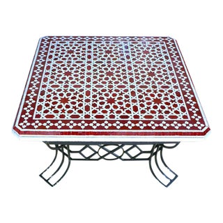 Mosaic Outdoor Coffee Table For Sale