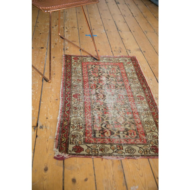 """Antique Hamadan Rug Mat - 2'2"""" X 3'2"""" For Sale In New York - Image 6 of 11"""