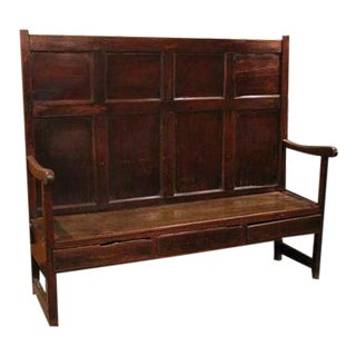 Late 18th Century Vintage Settle From Lancashire For Sale
