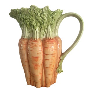 Vintage Fitz and Floyd Carrot Pitcher For Sale