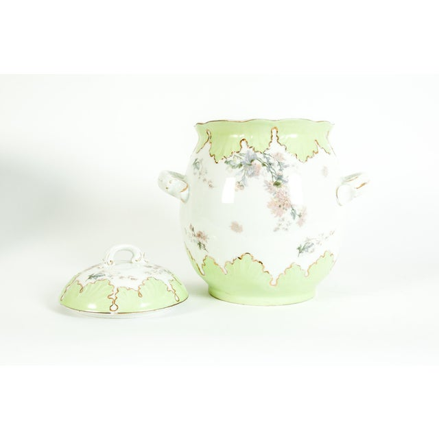 White Large Austrian Porcelain Covered Piece For Sale - Image 8 of 12