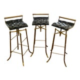 Image of Vintage Mid Century Swivel Barstools-Set Of 3 For Sale