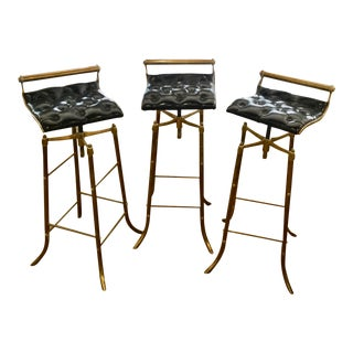 Vintage Mid Century Swivel Barstools-Set Of 3 For Sale