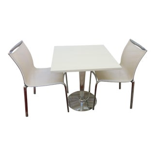 Contemporary White Dining Set - Set of 3