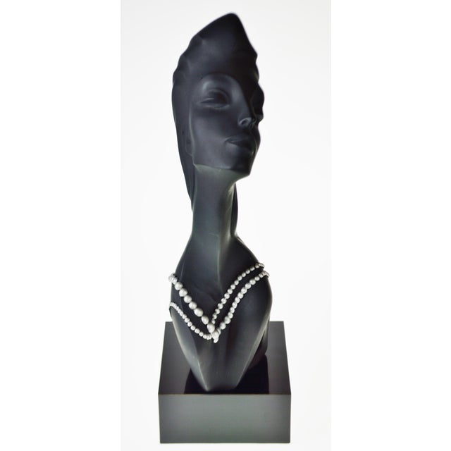 1990s Vintage 1990 Austin Productions Alexander Danel Pearls Sculpture of Woman - Rare For Sale - Image 5 of 13