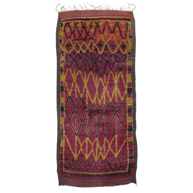 Ait Bou Ichaouen Moroccan Berber Carpet For Sale