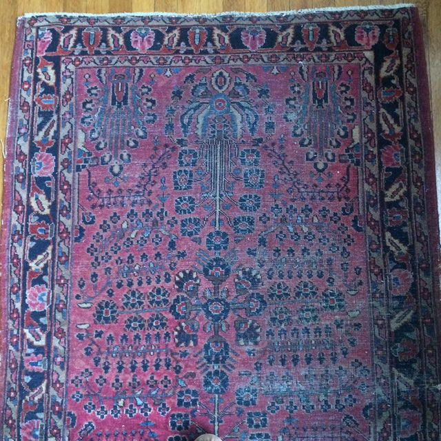 "Vintage Persian Sarouk Rug - 3'4"" X 4'10"" - Image 4 of 7"