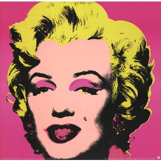 1999 Andy Warhol 'Marilyn Pink (Sm)' Art Nouveau Pink,Yellow Germany Offset Lithograph For Sale