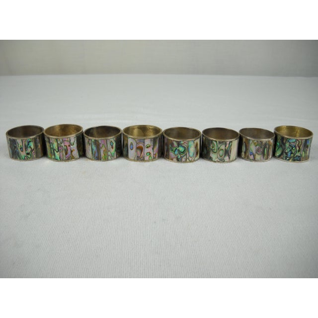 Abalone Shell Napkin Rings - Set of 8 - Image 3 of 8