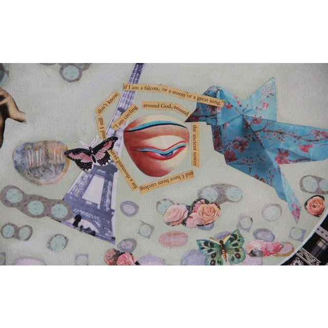 Contemporary Contemporary Very Large Collage With Glass Motif For Sale - Image 3 of 13