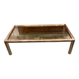 "Modern Aluminum & Glass ""Tubo"" Coffee Table by John Mascheroni For Sale"