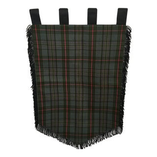 Medieval Style Fringed Multicolor Plaid Banner For Sale