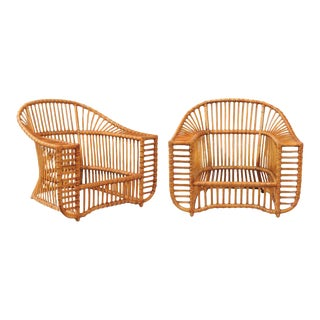 Unique Restored Pair of Tiara Lounge or Club Chairs by Henry Olko, circa 1979