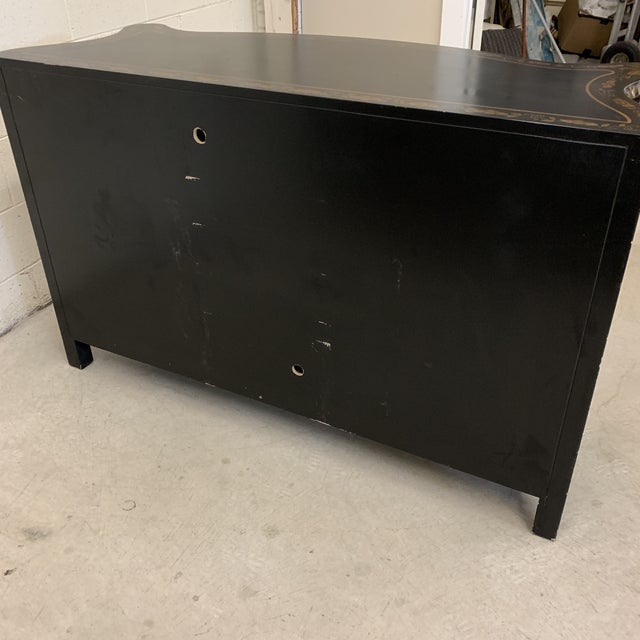 Asian Style Credenza Server Black Lacquer For Sale - Image 12 of 13