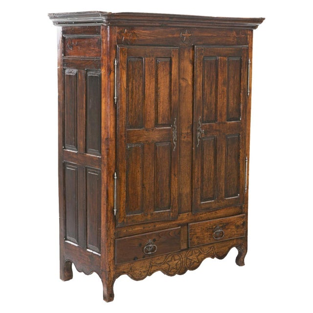 Early 19th Italian Century Rustic Oak Armoire For Sale - Image 11 of 11