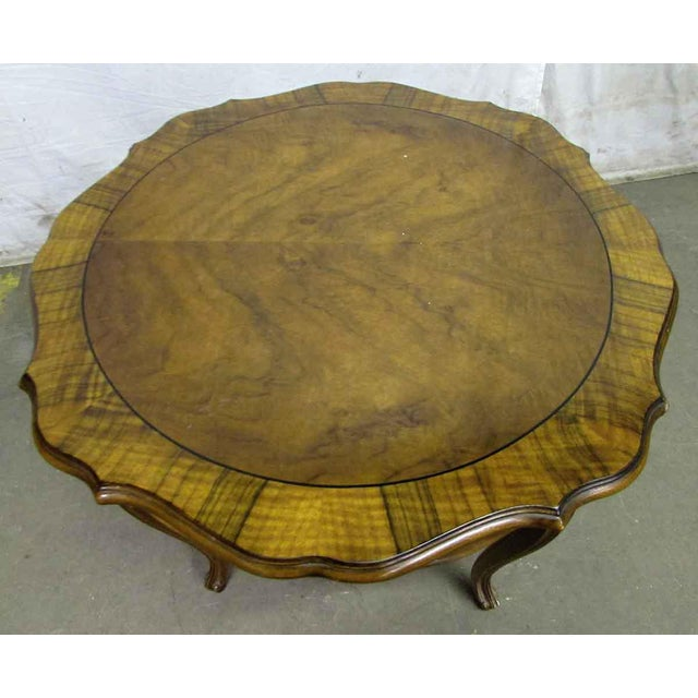 Floral Carved Wood Coffee Table - Image 6 of 7