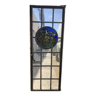 1920s Vintage Leaded Stained Glass Window For Sale