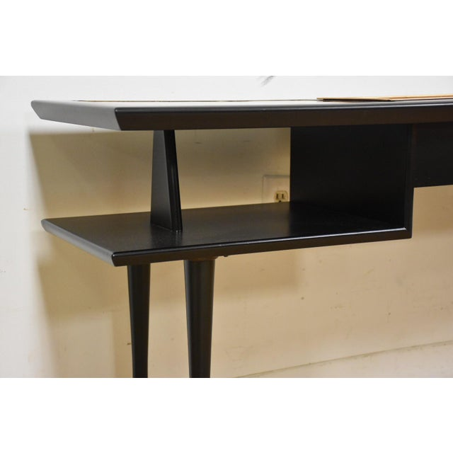 Black Lacquered Tile Planter Console For Sale - Image 4 of 9
