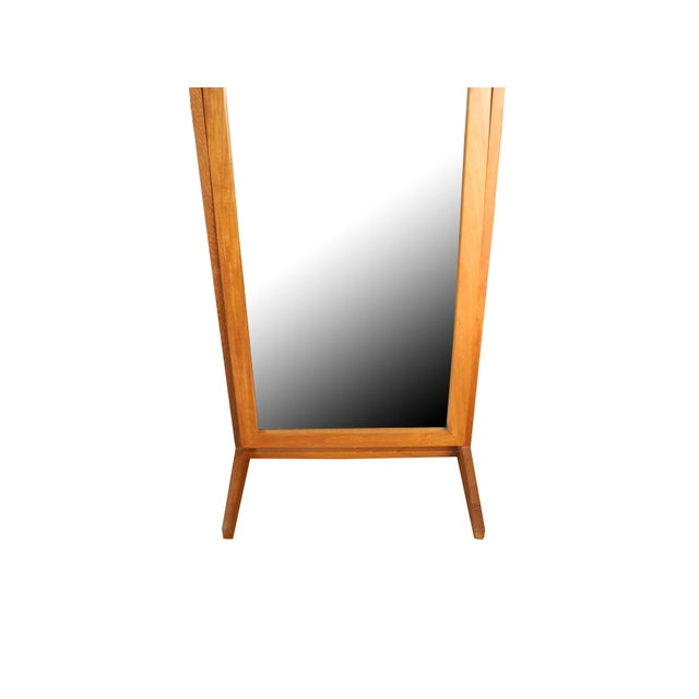 Vintage Danish Modern Teak Full Length Floor Mirror by Pedersen & Hansen For Sale - Image 11 of 13