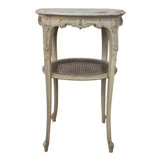 19th Century French Louis XVI Painted Oval End Table For Sale