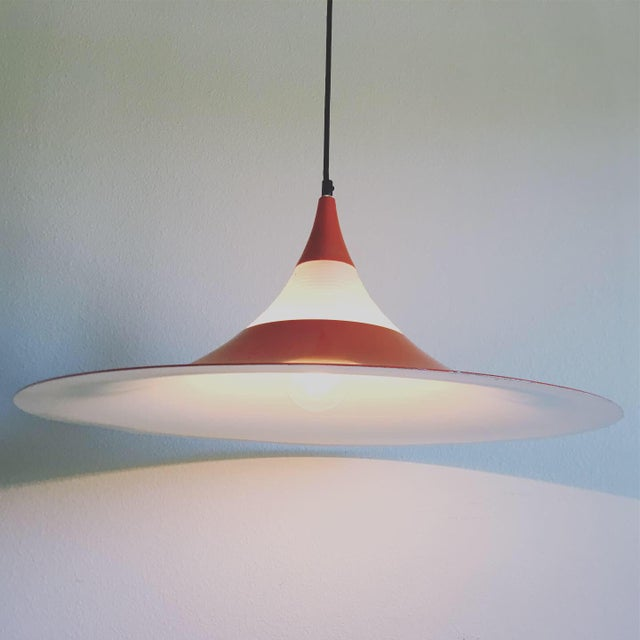 "Mid-Century Modern 1960s ""Semi"" Pendant Chandelier by Fog & Morup For Sale - Image 3 of 11"