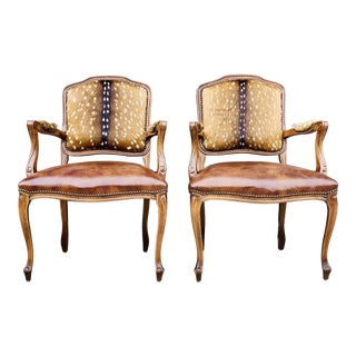 Modern Axis Deer Arm Chairs- a Pair For Sale