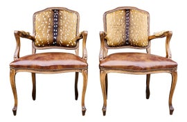 Image of Burnt Umber Bergere Chairs