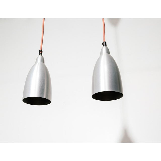 Mid-Century Modern Spun Aluminum Hanging Lamps by Dijkstra For Sale - Image 3 of 5