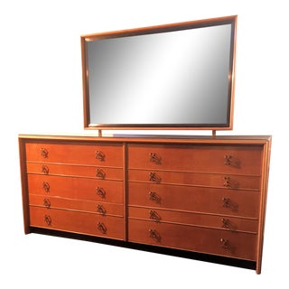 Paul Frankl Double Dresser With Mirror For Sale