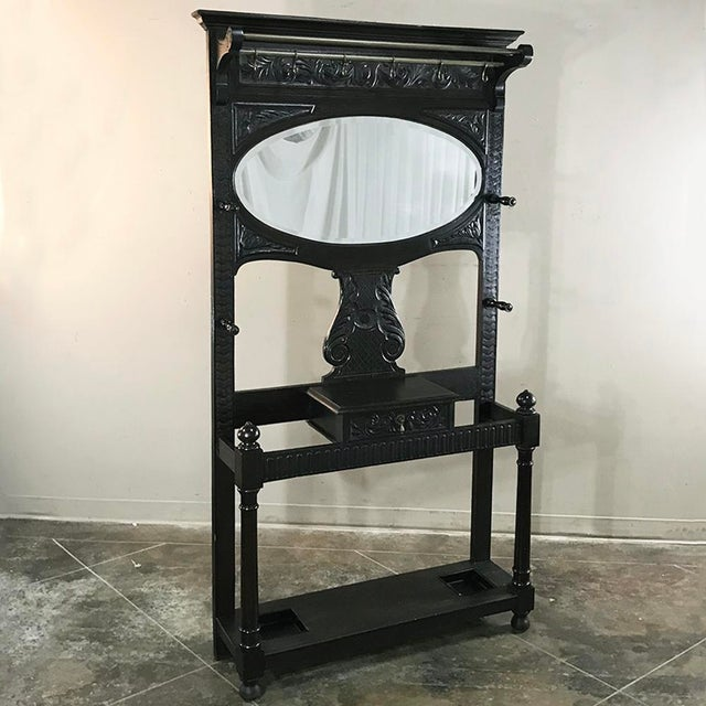 French 19th Century French Renaissance Hall Tree For Sale - Image 3 of 12