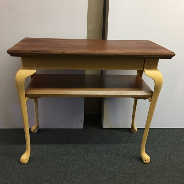 Painted Wood & Metal Console Table - Image 2 of 10
