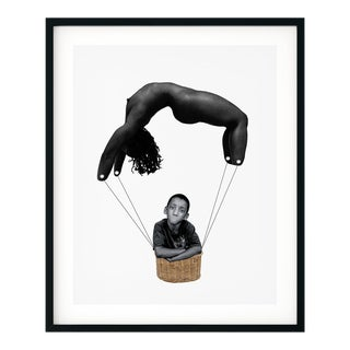 'And I'll Bend for You' Original Collage by by Rochelle Sodipo, Framed For Sale